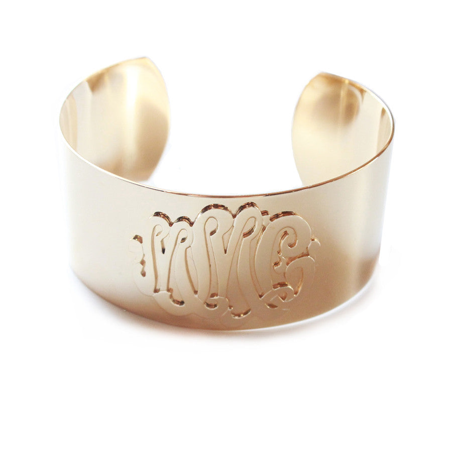 I found this at #moonandlola - Castel Cuff Monogram Bracelet