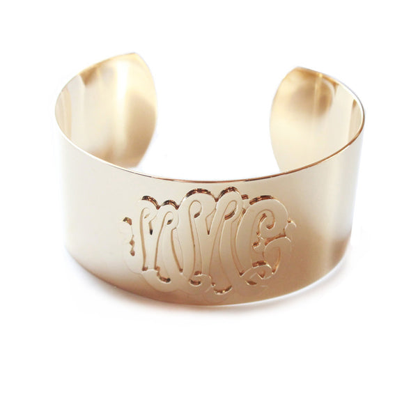 Moon and Lola - Castel Cuff Monogram Bracelet
