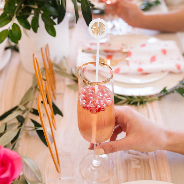 I found this at #moonandlola! - Block Monogram Drink Stirrers