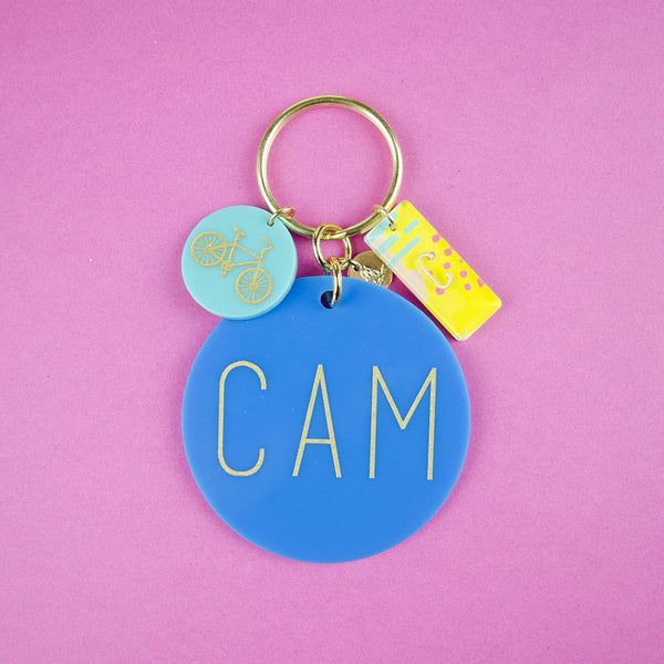 I found this at #moonandlola! - Modern Block Keychain with Charms