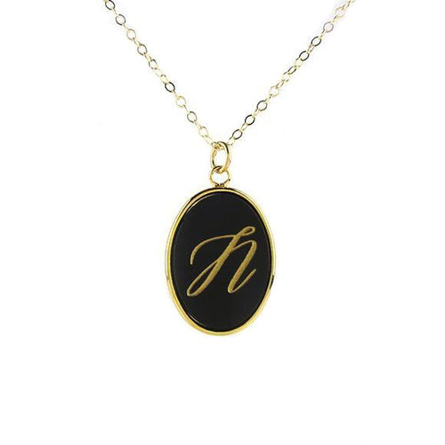 Moon and Lola - Vineyard Single Initial Necklace