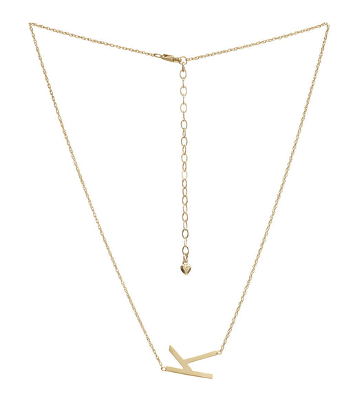 I found this at #moonandlola! - Metal Sideways Varsity Letter Necklace