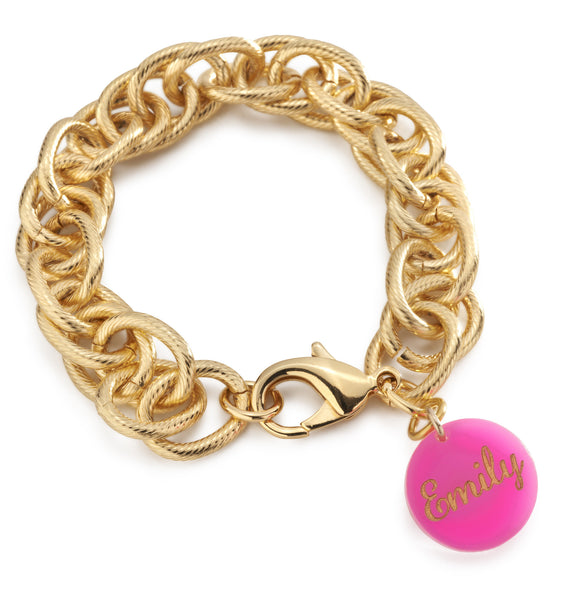 I found this at #moonandlola! - Haven Script Charm on Preston Bracelet