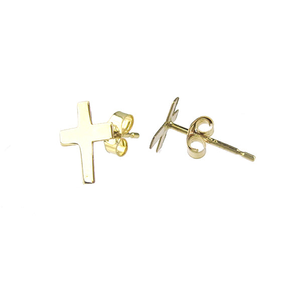 Moon and Lola - Fina 14K Gold Cross Studs