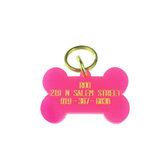 Moon and Lola - Acrylic Dog Bone Tag for your pet