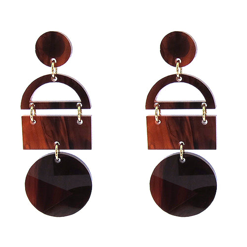 Moon and Lola - Aruba Earrings in Tortoise Shell Acrylic