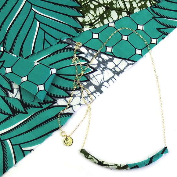 Moon and Lola - Azaza Slide in Colorway 1 on Apex Chain Necklace