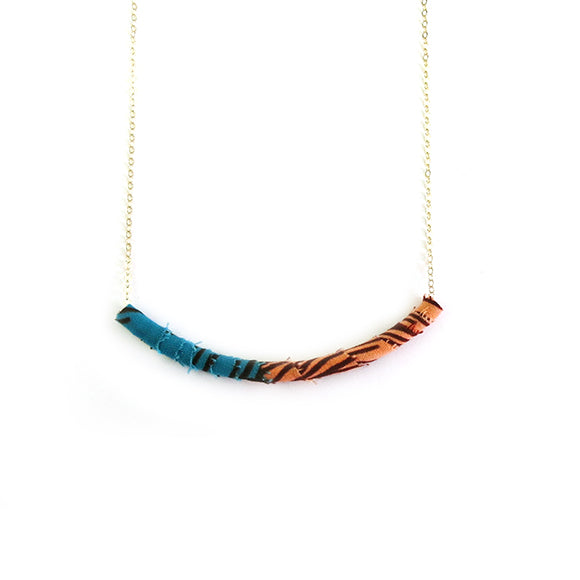 Moon and Lola - Azaza Slide in Colorway 7 on Apex Chain Necklace