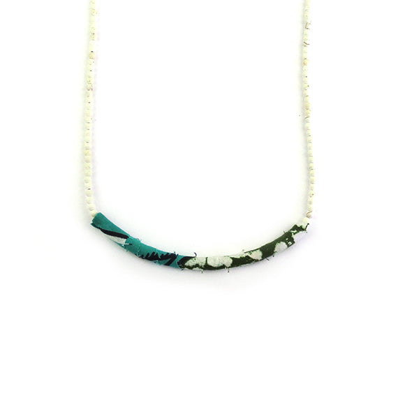 Moon and Lola - Azaza Slide on Long Rhea White Turquoise Necklace