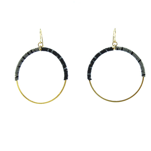 Moon and Lola - Bafilo Earrings in Gray and Black