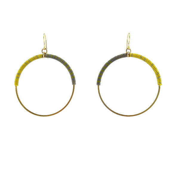 Moon and Lola - Bafilo Earrings in Yellow and Gray