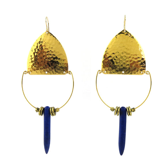 Moon and Lola - Balanka Earrings in Cobalt
