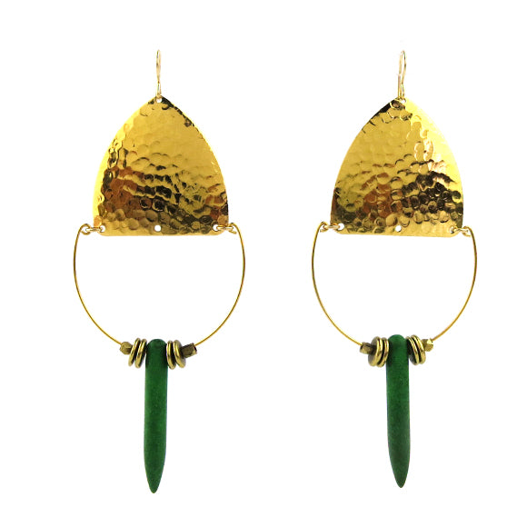 Moon and Lola - Balanka Earrings in Emerald