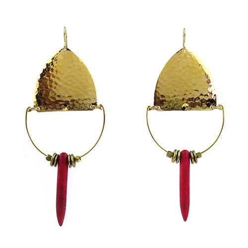 Moon and Lola - Balanka Earrings in Hot Pink