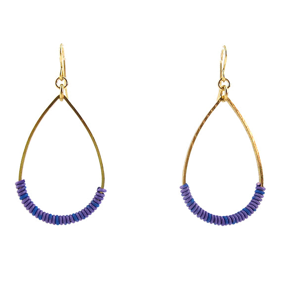 Moon and Lola - Bangan Earrings in blue and purple