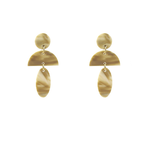 Moon and Lola - Anquilla Earrings in Blonde Tortoise