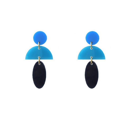 Moon and Lola - Anquilla Earrings in Blue Ombre