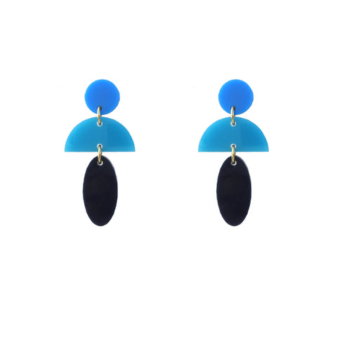 Luna Triple Drop Earrings