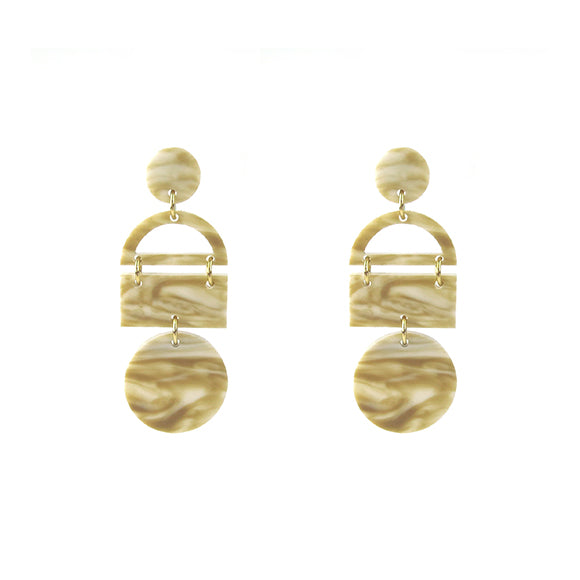 Moon and Lola - Aruba Earrings in Blonde Tortoise