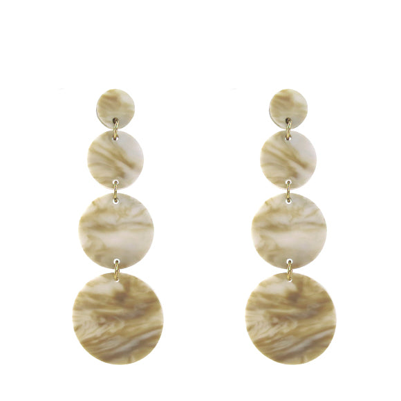 Moon and Lola - Barbados Earrings in Blonde Tortoise