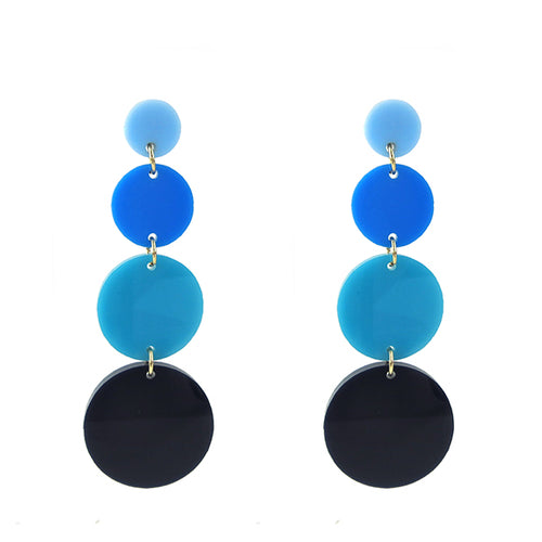 Moon and Lola - Barbados Earrings in Blue Ombre