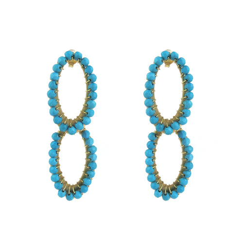 Moon and Lola - Papeete Turquoise Earrings