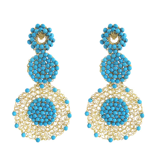 Moon and Lola - Papara Turquoise Earrings