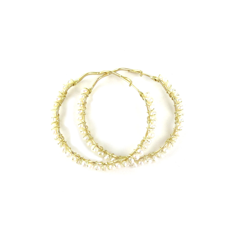 Moon and Lola - Bora Bora Pearl Hoops