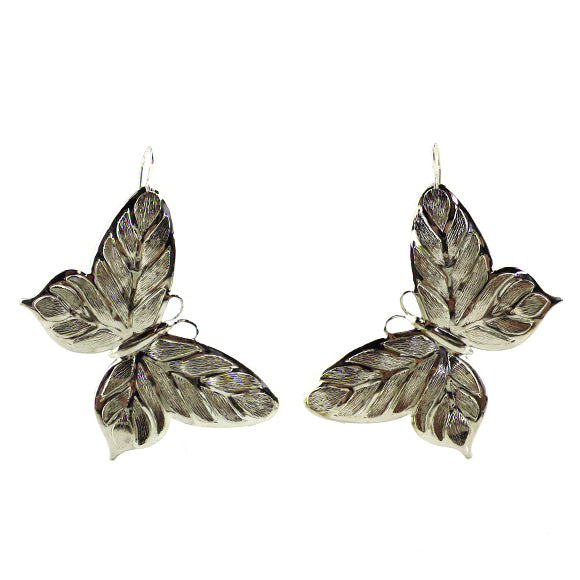 Moon and Lola - Butterfly Earrings in silver