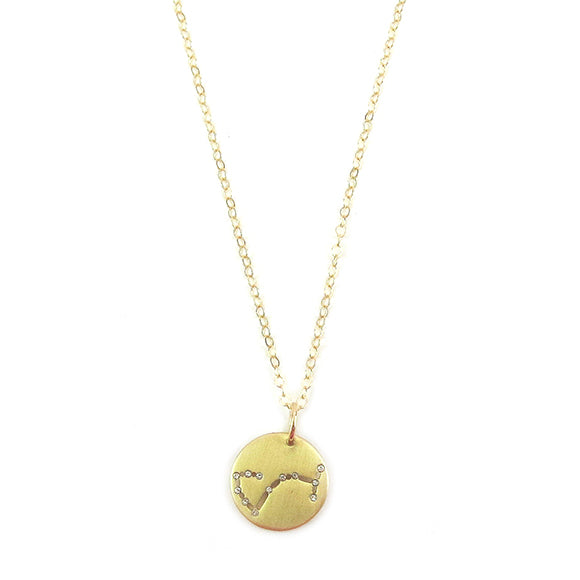 Moon and Lola - Brass Constellation Necklace