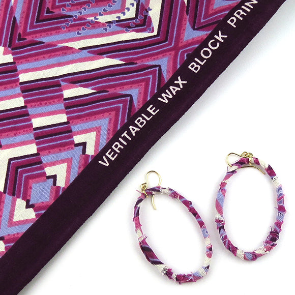 Moon and Lola - Togo Dagni Fabric-Wrapped Earrings