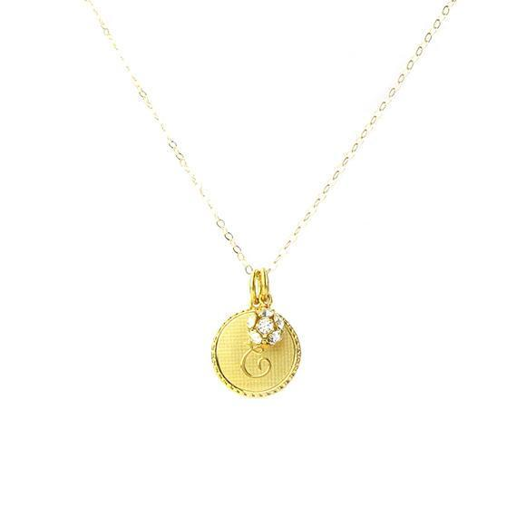Moon and Lola - Dalton Charm Necklace with Rhinestone Ball