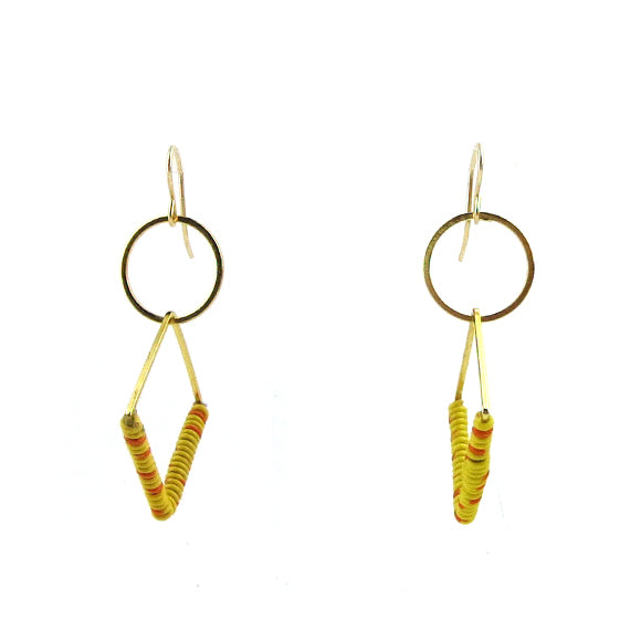 Moon and Lola - Demini Earrings in Yellow and Orange