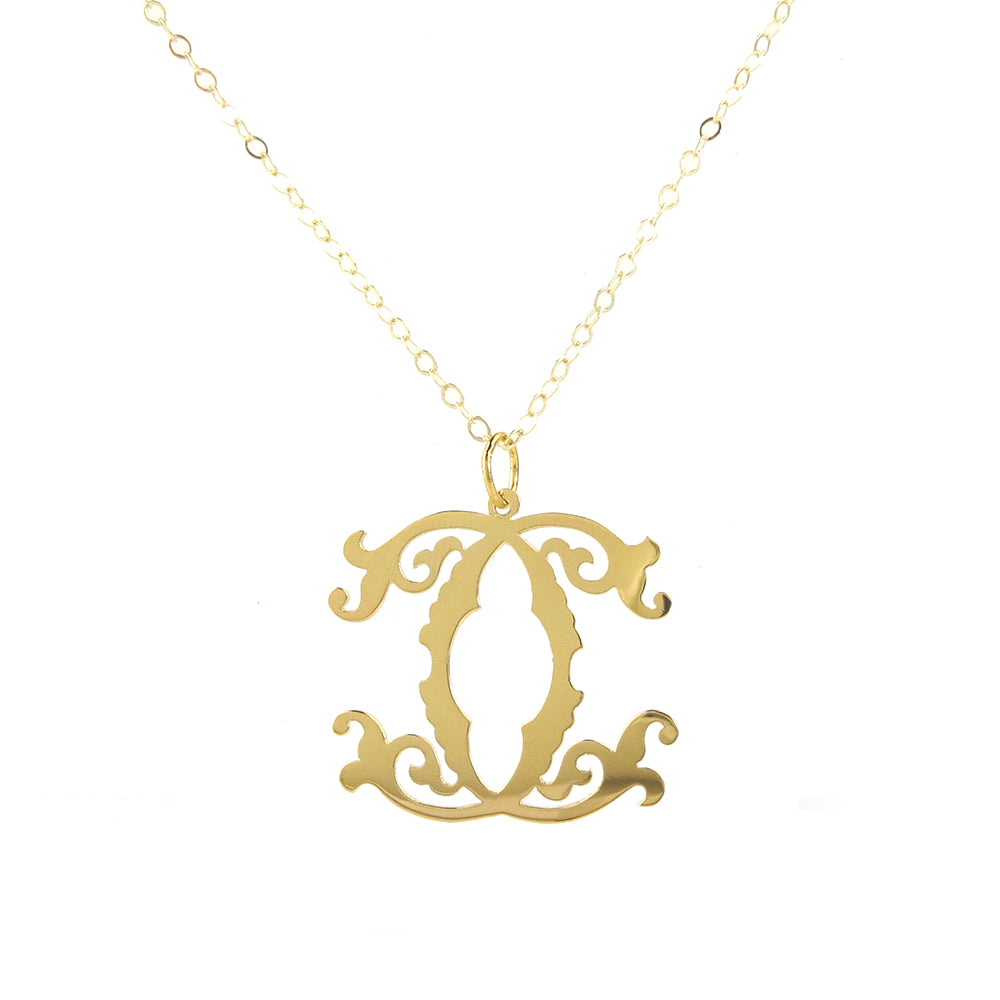 Moon and Lola - Emily McCarthy Metal Interlocking Monogram