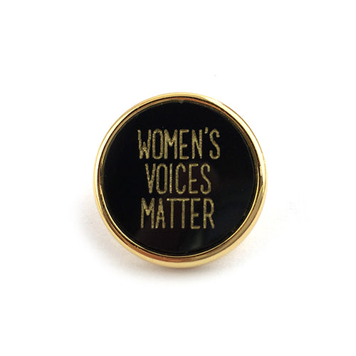 Moon and Lola - Women's Voices Matter Backpack Pin