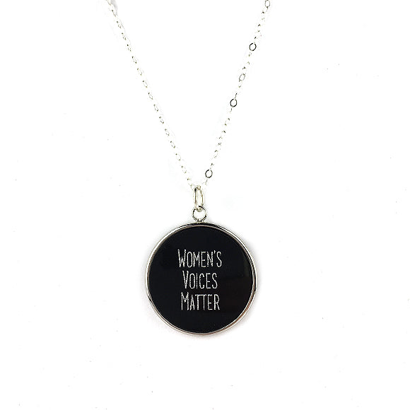 Moon and Lola - Equality For All round Necklace Women's Voices Matter