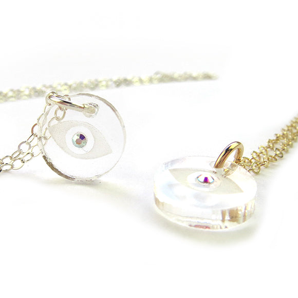 Moon and Lola - Evil Eye Necklace with Swarovski Crystal