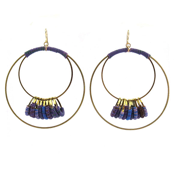 Moon and Lola - Farende Earrings in Purple Rain