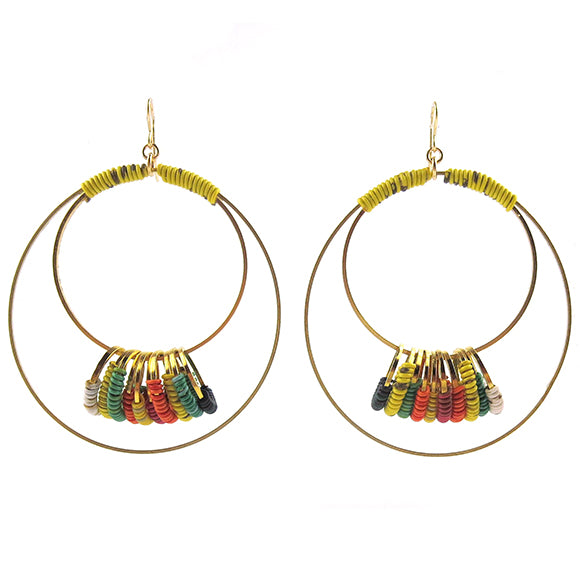Moon and Lola - Farende Earrings in Rainbow Bridge #2