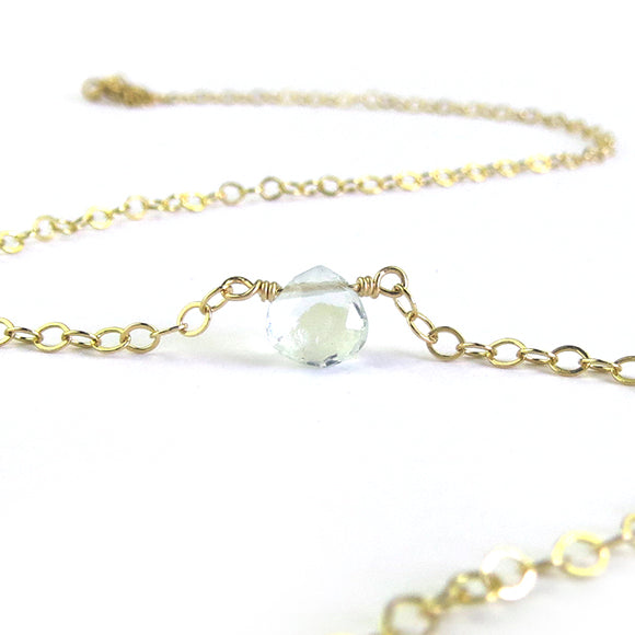 Moon and Lola - Mini Aquamarine Necklace