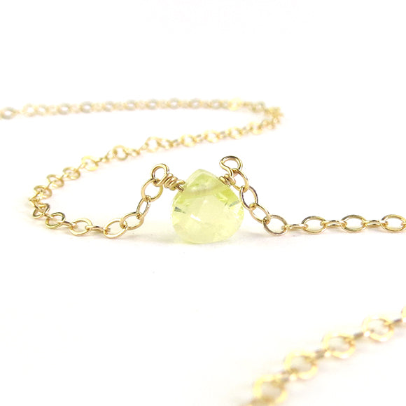 Moon and Lola - Jonquil CZ Necklace