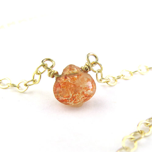 Moon and Lola - Mini Sunstone Necklace
