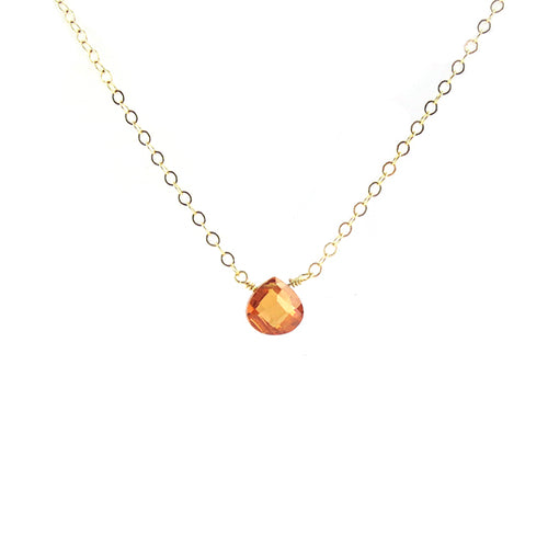Moon and Lola - Copper CZ Necklace
