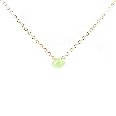 Lemon-Lime Chalcedony Necklace