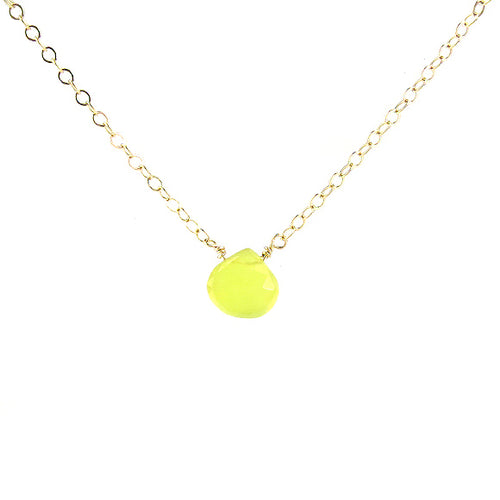 Moon and Lola - Lemon-Lime Chalcedony Necklace