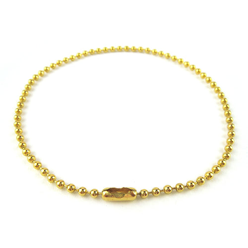 Moon and Lola - Gobi Anklet in gold ball chain