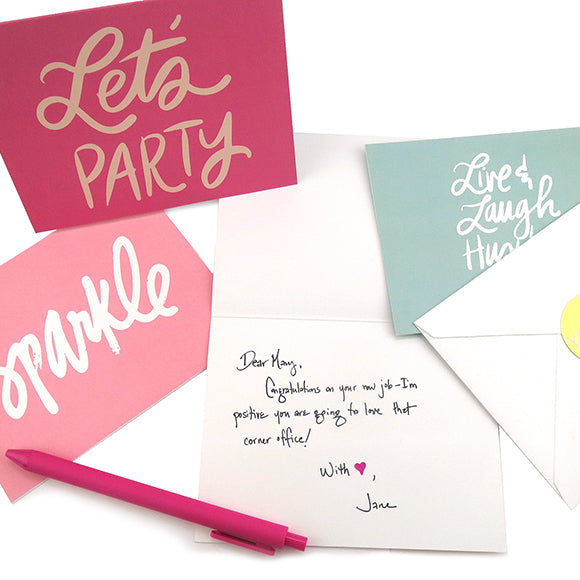 Moon and Lola - Handwritten Note Card Enclosed With Order
