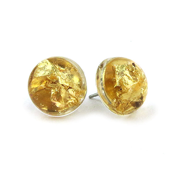 Moon and Loal - Ivalo Gold Leaf Post Earrings