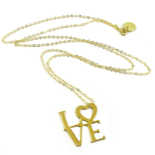 Moon and Lola - Love Necklace large gold