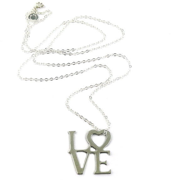 Moon and Lola - Love Necklace large silver